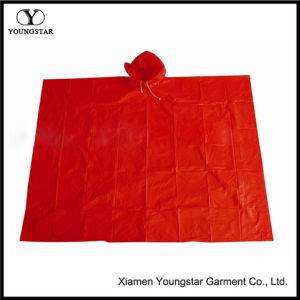 Custom Promotional Functional PVC Rain Poncho for Adults pictures & photos
