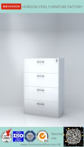 Four Drawers Lateral Filing Cabinet with Electrostatics Powder Coatings