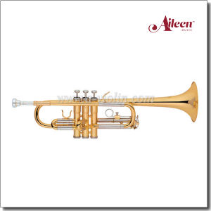 C Key Brass Lacquered Finish Stainless Steel Piston Trumpet (TP8376G) pictures & photos