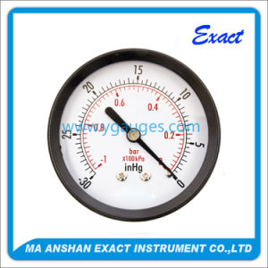 High Quality Dry Black Steel Back Connection Pressure Gauge pictures & photos