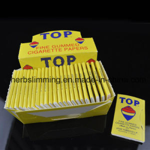 Top Fine Gummed Cigarette Smoking Rolling Papers 24 Booklets Paper pictures & photos