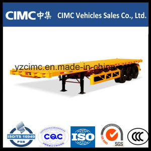 Cimc 3 Axles Flat Bed Container Semi Trailer pictures & photos