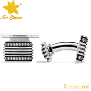 Cufflink-003 Wholesale Open Design Silver Fashion Metal Sleeve Button pictures & photos