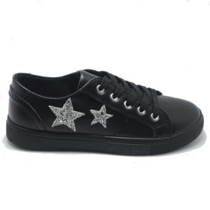 Leather Star Fashion Basic Classical Leisure Women Men Rubber Shoes pictures & photos
