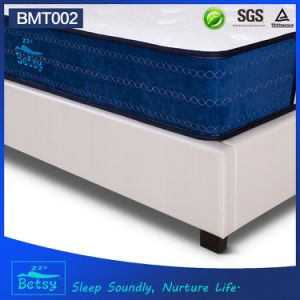 OEM High Quality Mattress Sizes 26cm High with Relaxing Pocket Spring and Massage Wave Foam Layer pictures & photos