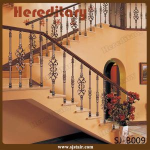 Luxury Golden Color Aluminum Handrail for Staircase for Indoor (SJ-B024) pictures & photos