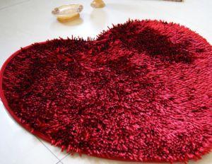 Shinny Chenille Polyester Non-Slip Base Bath Mat pictures & photos