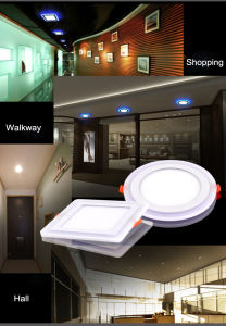 16W Dimmable Round Double Color LED Panel Lightings pictures & photos