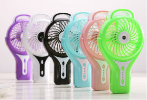 Portable Charging atomizing USB mini fan with 3 level wind speeding-Black pictures & photos