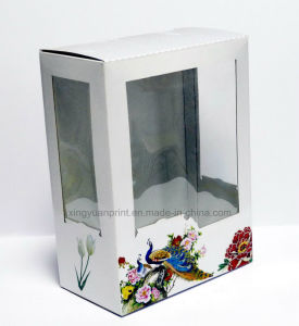 Beautiful Fashion Custom Packaging Color Box with Window Box