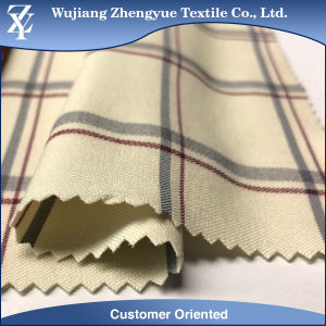 Twill Nylon Polyester Spandex Blending Checked Stretch Trousers Fabric pictures & photos