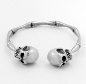 Stainless Steel Human Skeleton Skull Cuff Bracelet Bangle pictures & photos