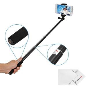 Telescopic Selfie Stick with Bluetooth Remote Shutter for Smartphones pictures & photos