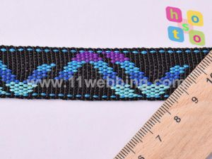 Custom Design High Clothing Jacquard Polyester Webbing pictures & photos