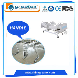 Manual Crank Hospital Bed with Stainless Set Handle pictures & photos
