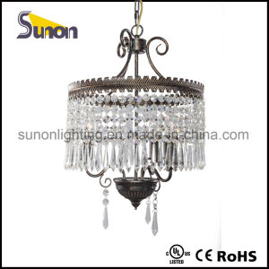 Mini Glass Crystal Swag Chandelier Lighting with 3 Lights pictures & photos