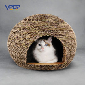 Oval Shaped Corrugated Handamde Cat Scratcher Cat Houses pictures & photos