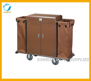 Linen Trolley Housekeeping Trolley with Door and Lock pictures & photos