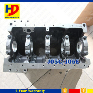 Steel Diesel Engine J05c J05e Engine Cylinder Block pictures & photos