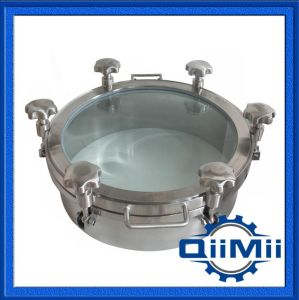 Sanitary Regular Pressure Round Stainless Steel Ss304/Ss316L Manhole Cover pictures & photos