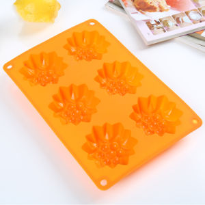 Silicone Bakeware Cake/Soap Mould Food Grade Silicone Cupcake Mold Orange pictures & photos