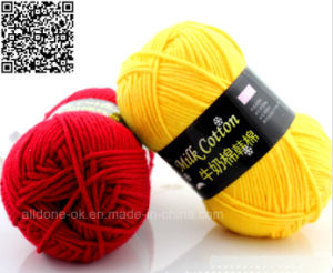DIY Hand Knitting Crocheting Fancy Milk Cotton Yarn Professional Factory pictures & photos