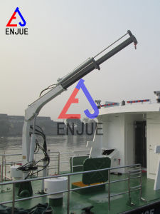 Electric Hydraulic Telescopic Boom Hoisting Machine Ship Deck Crane pictures & photos