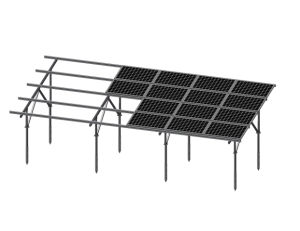 Landscape 4 Row Galvanized Steel Solar Mounting System pictures & photos