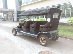 Top Quality Antique 3 Rows Classic Golf Car 5kw Electric Tourist Vehicle pictures & photos