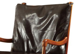 Modern Home Furniture Genuine Leather Wooden Armchair pictures & photos