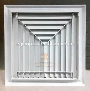 Aluminium 3 Way Louvre Ceiling Square Air Diffuser pictures & photos