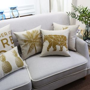 Reasonable Cotton Linen Decorative Lumbar Pillow for Outdoors pictures & photos