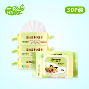 Spunlace Nonwoven Baby Wet Wipes 30 PCS, Wet Facial Tissue Wipe pictures & photos
