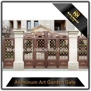 Decorative Color Power Coated Metal Aluminum Garden Front Doors pictures & photos