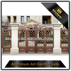 Decorative Color Power Coated Metal Aluminum Garden Gate pictures & photos