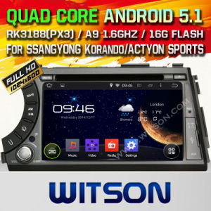 Witson Android 5.1 Car DVD for Ssangyong Korando/Action (W2-A7066) pictures & photos