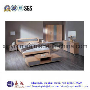 Modern Wooden Bed Luxury Hotel Bedroom Furniture (SH033#) pictures & photos