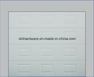 Solid Wood/Stainless Steel/Sandwish/Glass Panel/European Style Garage Door pictures & photos