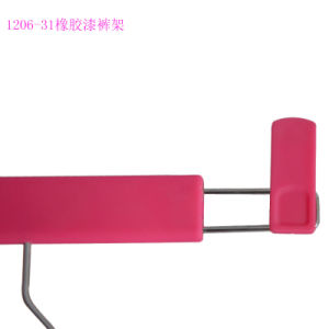 Non-Slip Rubber Finish Pants Hangers pictures & photos