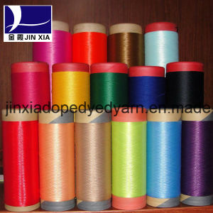 500d/192f Dope Dyed DTY Polyester Filament Textured Yarn pictures & photos