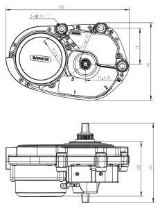 Bafang MID Motor Max Motor Kit 36V 250W Ebike Kit pictures & photos