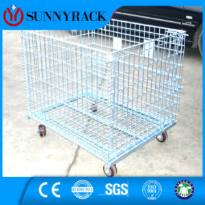 Galvanized Movable Turnover Steel Wire Container pictures & photos