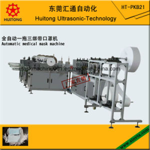 Automatic Ultrasonic Medical Face Mask Making Machine of 3 Tie on Mask Machine pictures & photos