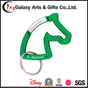 Best Selling Animal Shaped Novelty Aluminum Keychain Horse Carabiner pictures & photos