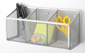 Desk Storage/ Metal Mesh Stationery Magnetic Hanaging/ Office Desk Accessories pictures & photos