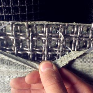 China Premium Plain Weave Stainless Steel Crimped Square Wire Mesh pictures & photos