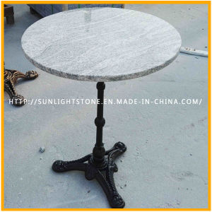 Top Quality Cast Iron Polished Natural Stone Furniture Round Coffee Table Top pictures & photos