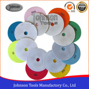 125mm Diamond Wet White Polishing Pad for Stone pictures & photos