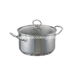 Stainless Steel Stock Pot with Glass Lid pictures & photos