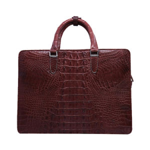 2017 Designer Men Genuine Crocodile Leather Briefcase Gentry Laptop Briefcase pictures & photos